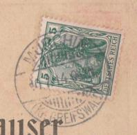 Deutsches Reich Karte Mit Tagesstempel Murchin Kr Greifswald Lk Vorpommern Greifswald 1914 - Brieven En Documenten