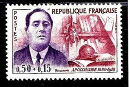 FRANCE 1300** 0,50f + 0,15f Lilas-rose Et Violet Célébrités Guillaume Apollinaire - France