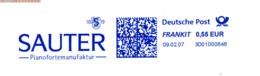 Freistempel 8811 Sauter Piano Klavier Musik - BRD