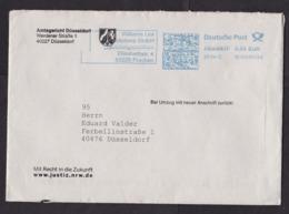 Germany: Cover, 2012, Meter Cancel, Court Document Enclosed, Amtsgericht Düsseldorf, Justice, Law (minor Damage) - [7] West-Duitsland