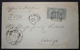 ANNULLI LOMBARDO VENETO: NUMERALE CHIOGGIA Venezia - 1861-78 Vittorio Emanuele II
