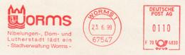 Freistempel 9049 Worms Nibelungen Lutherstadt - Affrancature Meccaniche Rosse (EMA)