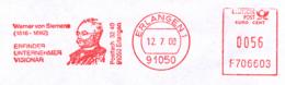 Freistempel 9143 Werner Von Siemens - Affrancature Meccaniche Rosse (EMA)