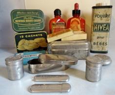 Lot De Boites Et Flacons De Pharmacie Ancienne - Boîtes