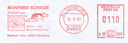 Freistempel 9202 Ratte Holzwurm - Marcophilie - EMA (Empreintes Machines)