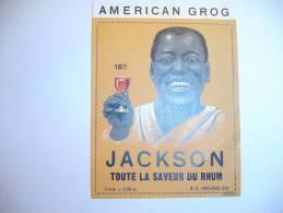 Anc.étiquette  Rhum Jackson. Old Stick - Rhum