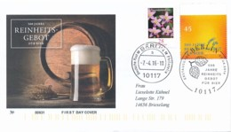 GERMANY Mi. Nr. 3229 500 Jahre Reinheitsgebot Für Bier - FDC - FDC: Covers