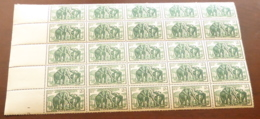 Cameroun - 1939 - N°Yv. 185 - Elephants 2f - Bloc De 25 Bord De Feuille - Neuf Luxe ** / MNH / Postfrisch - Cameroun (1915-1959)