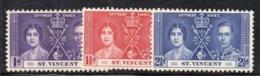 CI955 - ST. VINCENT 1937, Yvert Serie Dell'incoronazione *** - St.Vincent (...-1979)