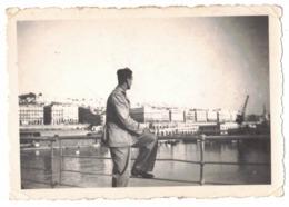 ALGER TRANSPORT BATEAU CLICHE SEPTEMBRE 1941 A BORD DE L'ERIDAN PAQUEBOT NAVIRE VERITABLE PHOTO DENTELEE PHOTOGRAPHIE - Boats