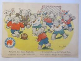 Reklame, Werbung, Elefanten Marke, Fußball,   1950 ♥ (51316)  - Werbepostkarten