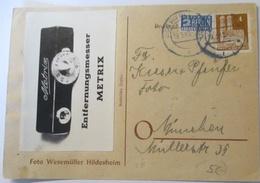 Foto Film Werbung Reklame, Entfernungsmesser Metrix, Hildesheim 1949 (71502) - Fotografie