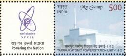 INDIA 2019 MY STAMP TARAPUR ATOMIC POWER STATION UNIT ! & 2, NPCIL 1v + Tab  Limited Issue MNH(**) - India