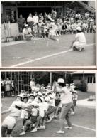 2 Photos Originales Scolaire Made In Japan & Epreuves Sportives Saut En Longueur & Tir à La Corde Vers 1970 - Japon - Anonyme Personen