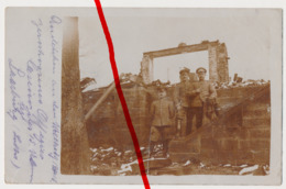 Original Foto - Ca. 1915 - Sarrebourg Saarburg - Zerschossenes Offizierskasino Des 15. Ulanenregiments - Sarrebourg