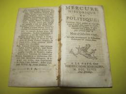 CORSE HISTORIQUE , LA BASTIE // ORDRE DE MALTE // LETTRE DE LOUIS XV , PRISE DE BERG-OP-ZOOM - NOVEMBRE 1747. - Giornali - Ante 1800