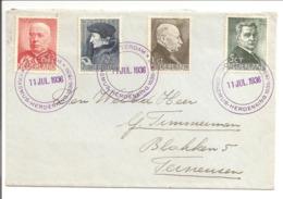Zomersegels 1936 HC283-HC286. Speciaal Stempel Erasmusherdenking 11.7.36 - 1891-1948 (Wilhelmine)