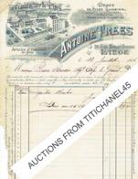 Facture Illustrée 1906 LIEGE - ANTOINE TREES - Manufacture De Pipes - Cigarettes & Allumettes - Pipes GAMBIER - Factures & Documents Commerciaux