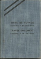 France 1972 Passport For Refugee From Russia Passeport Reisepass Titre De Voyage Convention Of 28 July, 1951 Revenues - Documents Historiques