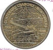 Jeton Touristique 74 Chamonix Montenvers 2008 Centenaire! - 2008