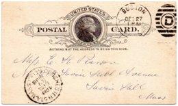 ÉTATS-UNIS - Entier Postaux Postal Card - BOSTON 1888 - Ganzsachen