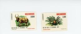 Mozambique 1977-Journée Du Timbre,protection De La Nature,animaux,plante-YT 635/6***MNH - Environment & Climate Protection