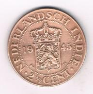 2  1/2  CENT 1945 NEDERLANDS INDIE /8194/ - Indes Néerlandaises