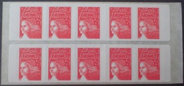 R1615/1386 - TYPE MARIANNE De LUQUET - N°3419-C12 TIMBRES AUTO-ADHESIFS NEUFS** - Markenheftchen