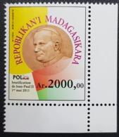 MADAGASCAR MADIGASKARA BATIFICATION JEAN PAUL II 2 2011 2014 MNH ** RARE - Madagascar (1960-...)
