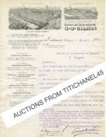 Brief Geillustreerd 1913 TIENEN- J.J. GILAIN -Locomotives -Chaudronnerie -Matériel Pour Sucrerie, Distillerie, Brasserie - Belgique