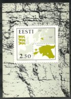Estland Estonia 1991 Year Set In Special Folder (without Proof/ohne Probedruck) Everything Which Is Pictured. - Estland