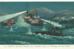 Les Torpileurs Japonais Attaquent Les Cuirasses Russesau Mouillage De Port-Arthur Japon/Russie  (2663) - Guerres - Autres