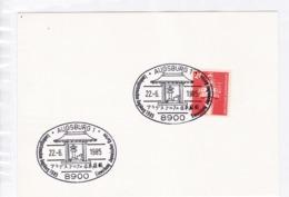 BRD.Mi: 848 K Stempel. 8900 Augsburg 1. Landesgartenschau, Einweihung Japanischer Garten. 22.6.1985 - Marcophilie - EMA (Empreintes Machines)
