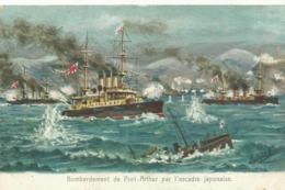 Bombardement De Port-Arthur Par L'escadre Japonaise Japon/Russie  (2666) - Guerres - Autres