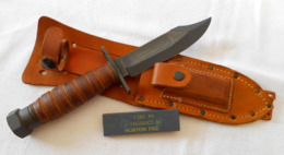 Couteau De Survie Pilote US 1973 Vietnam - Armes Blanches