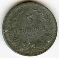 Bulgarie Bulgaria 5 Stotinki 1917 KM 24a - Bulgarie