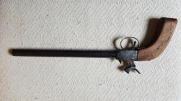 XIX Siècle - Pistolet De Braconnier à Poudre Noire - Armes Neutralisées