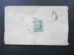 Nepal 1919 India Stamp / Briefmarke Indien Mit Ovalem Stempel Kathmandu - Bhimnagar Toller Und Seltener Beleg! - Nepal