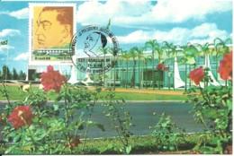 Carte Maximum - Brasil - Brasilia - Palacio Alvorada - Presidente Juscelino Kubitschek - Cartes-maximum
