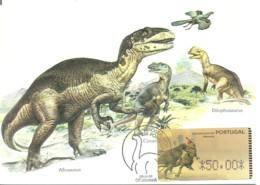 Carte Maximum - Portugal - Dinossauro - Dinosaure - Dinosaur - Allosauros - ATM - Francobolli