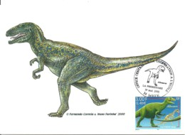 Carte Maximum - France - Dinossauro - Dinosaure - Dinosaur - Allosauros - Francobolli