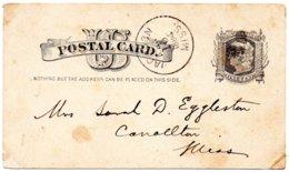 ÉTATS-UNIS - Postal Card 1884 - Interi Postali