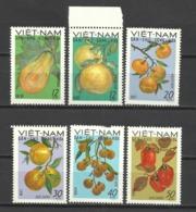 VIETNAM--NORTH-- Mi# 588 --593 (*) Mint No Gum -NG -1969 FRUITS - Vietnam