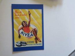SL - CPM - REPRODUCTION Publicité - NIVEA Crème Solaire - Publicité