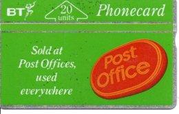 Post Office Timbre Stamp Télécarte BT  Phonecard  (G 208)) - Timbres & Monnaies