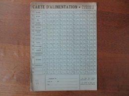 CARTE D'ALIMENTATION ARRONDISSEMENT DE CAMBRAI SEPT. 1940 A DEC.1940 - Historische Dokumente