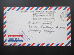 Malaysia 1975 Zensurbeleg Nach Hamburg Stempel Controller Of Posts Federal Territory Kuala Lumpur Urusan Seri Paduka Bag - Malasia (1964-...)