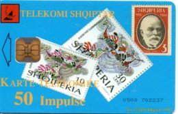 Timbre Stamp Télécarte Albanie Phonecard Téléphone PTT-VE (G 212)) - Francobolli & Monete