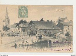 35 REDON CANAL DE BREST CPA BON ETAT - Redon