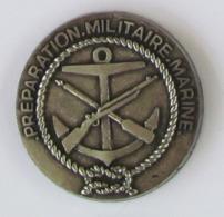 1 Pin's MILITAIRE - PREPARATION MILITAIRE MARINE Double Attache Signé DRAGO - Militari